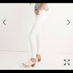 """Madewell white 9"""" high-rise skinny jeans size 26"""